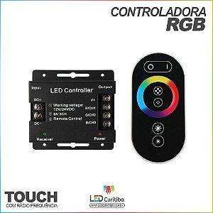 Controladora RGB Touch para Fita LED 3528 e 5050 RF 20m
