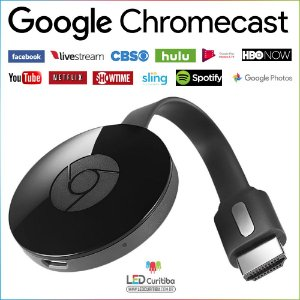 Stream Celular P/ Tv Google Chromecast 2 Full Hd 1080p Hdmi - Android e iOS