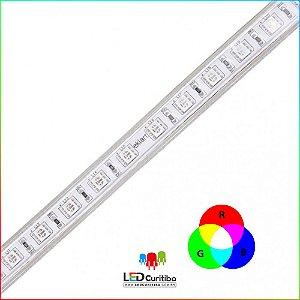 Fita LED Plug&Play 8W/m 5050 RGB + CONTROLE- IP65 Interno/Externo 127v