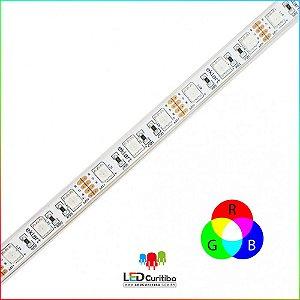 Fita LED RBG 10W 5050 60Leds/m- IP65 Interno/Externo 127v 400 Lúmens