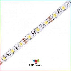 """Fita LED """"Sua Cor"""" 10W/m 5050 60Leds/m – IP20 Interno 12v 900 Lúmens"""