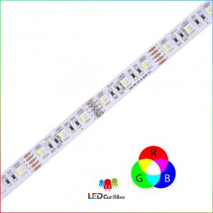 Fita LED RGBW 10W 5050 60Leds/m – IP20 Interno 12v