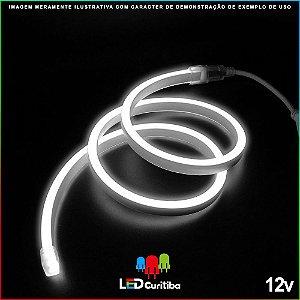 Mangueira de Led Neon Flexível Branco Frio 12v SMD 5050 8W IP66 Interno/Externo  .                                                                                                                 LED CURITIBA