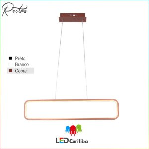 Pendente Recto LED 34W-1462lm-3000K