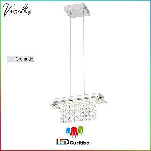 Pendente Versalhes LED 12W-840lm-4000K - Cromado