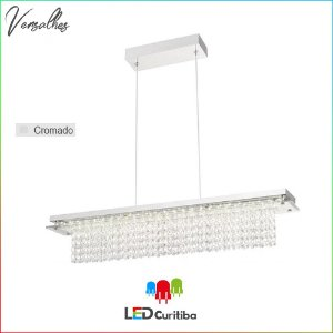 Pendente Versalhes LED 21W 1470lm 4000K - Cromado