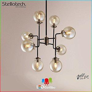 LUSTRE PENDENTE STELLA OLLIE (80cm) - 8xE14 40W - 795x710x745x120 (mm) - Metal Conhaque
