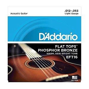 Encordoamento Violão D'Addario 0,12 EFT 16