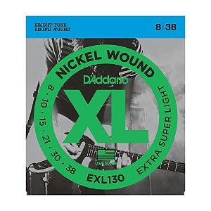 Encordoamento Guitarra D'Addario 0,08 EXL 130