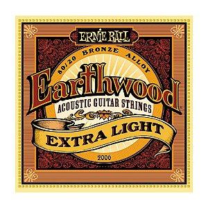 Encordoamento Ernie Ball Violão Extra Leve 2006