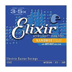 Encordoamento Guitarra 0.11 Elixir Nanoweb 12102