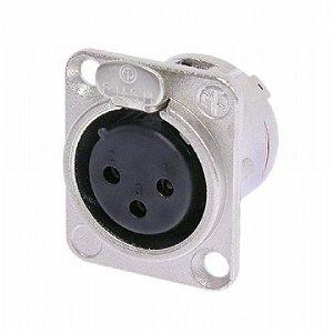 Conector Neutrik Xlr Femea Nc 3 Fd L 1