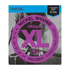 Encordoamento Guitarra 7 C D'Addario EXL 120 7