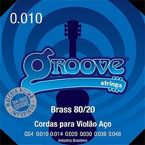 Encordoamento Groove Violão 010 Gs4 Brass