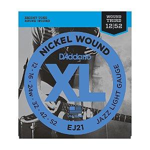 Encordoamento Guitarra D'Addario 0,12 Jazz Light EJ 21