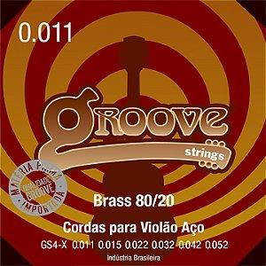 Encordoamento Groove Violão 011 Brass Gs4 X