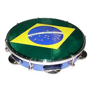 "Pandeiro 10"" Torelli Pele Brasil TP 350"
