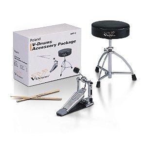 Kit Roland C/banco/ Baqueta/ Pedal Dap 3