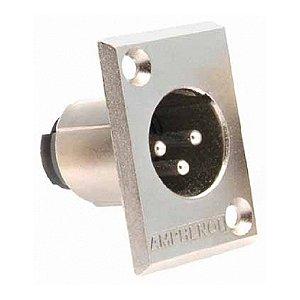 Conector Painel Amphenol XLR Macho AC3MMP