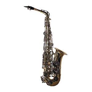 Saxofone Alto Dolphin Mib 8106 com chaves niqueladas