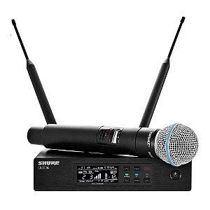 Microfone Mão Shure QLX D 24 Beta 58 L 50