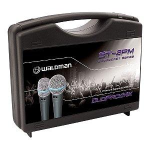 Kit Microfone Mão Waldman Broadcast BT 2 PM