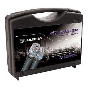 Kit Microfone Mão Waldman Broadcast BT 570 2 P