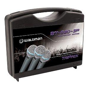 Kit Microfone Mão Waldman Broadcast BT 580 3 P
