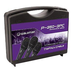 Kit Microfone Mão Waldman Performance P 350 3 PC