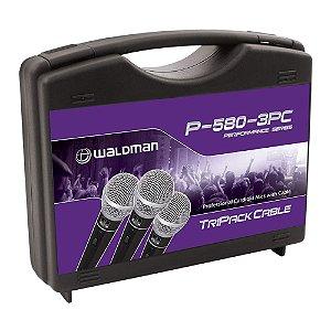 Kit Microfone Mão Waldman Performance P 580 3 PC