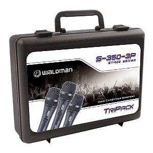 Kit Microfone Mão Waldman Stage S 350 3 P