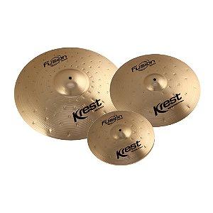 """Set Pratos Krest Fusion 13/16/20"""" com bag"""