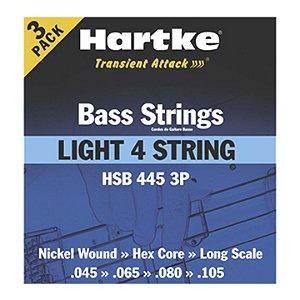 Encordoamento Contrabaixo 4C  Hartke HSB 445 3P