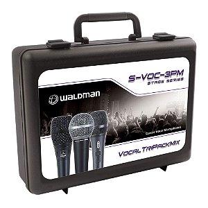 Kit Microfone Mão  Waldman Stage S VOC 3 PM