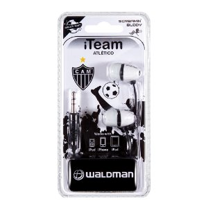 Fone In-Ear Waldman Screamyn Buddy Atlético Mineiro