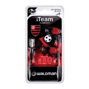 Fone In-Ear Waldman Screamyn Buddy Flamengo