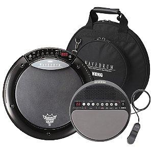 Kit Percussão Korg Wavedrum WD X BK com bag   Wavedrum Mini