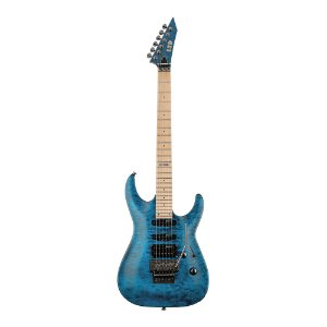 Guitarra Original LTD by ESP MH 103 QM See Thru Blue