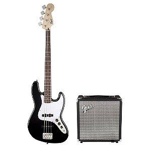 Kit Squier Affinity + Fender Rumble 15 + Acessórios
