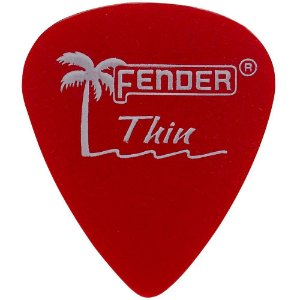 Kit 12 Palhetas Fender California Clear Thin