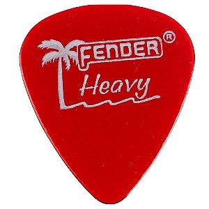 Kit 12 Palhetas Fender California Clear Heavy