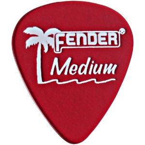 Kit 12 Palhetas Fender California Clear Medium