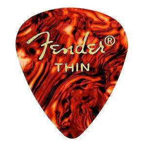 Kit 12 Palhetas Fender Shell Thin Tradicional
