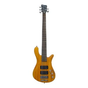 Contrabaixo 5C Ativo Rockbass by Warwick Streamer Standard Honey