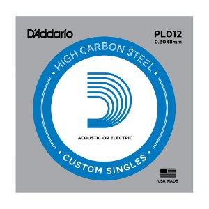 Corda Avulsa Guitarra D'Addario 0,12 Plain Steel