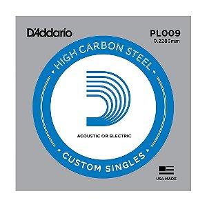 Kit 5 Corda Avulsa Guitarra D'Addario 0,09 PL 009