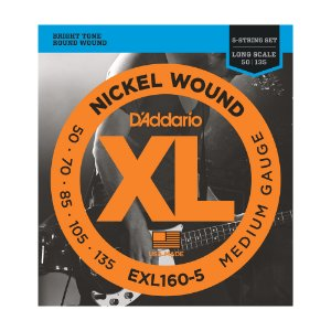 Encordoamento Contrabaixo 5C D'Addario 0,50 EXL 160 5
