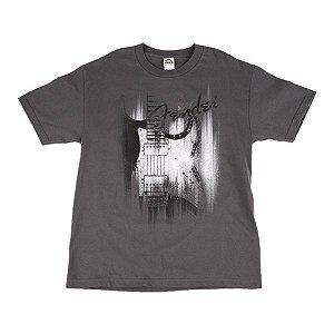 Camiseta Fender Airbrush P - Cinza
