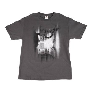 Camiseta Fender Airbrush XXG - Cinza