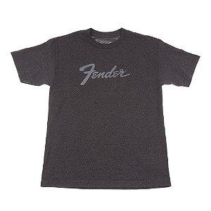 Camiseta Fender Amp Logo XG - Cinza Chumbo